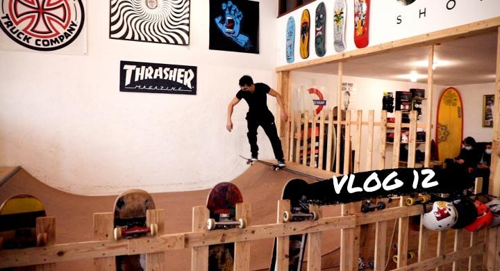 Mini Ramp Skateboarding na Outcast Board Shop!